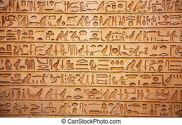 égypte vieille, hiéroglyphes