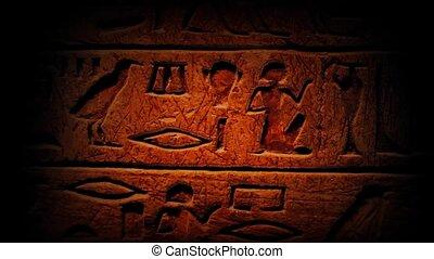 égyptien, ancien, hierogl, moule, travers
