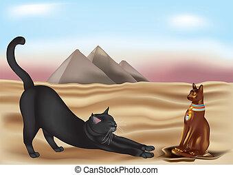 égyptien, chat