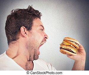 éhes, ember