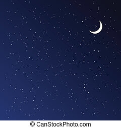 éjszaka, illustration., vektor, sky.