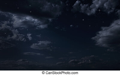 éjszaka, starry ég