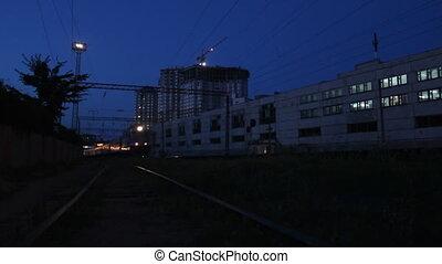 éjszaka, személyszállító vonat