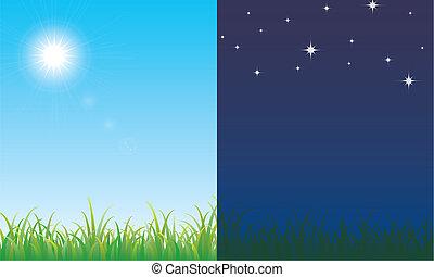 éjszaka táj, nap
