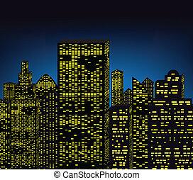 éjszaka, város