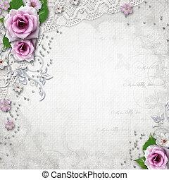 élégance, fond, mariage