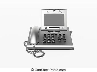 élégant, bureau, copyspace, téléphone