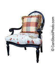 élégant, chaise, isolé