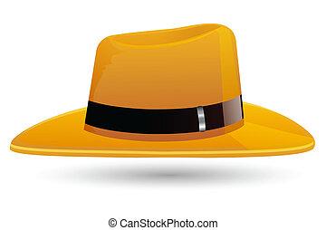 élégant, chapeau