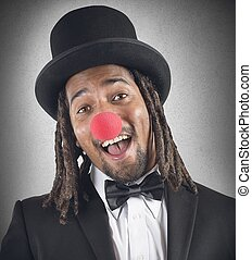 élégant, clown