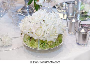 élégant, décorations, mariage