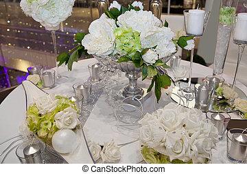 élégant, dîner, mariage