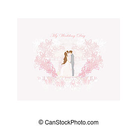 élégant, invitation mariage