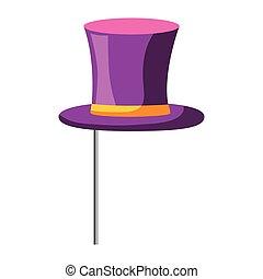 élégant, mâle, chapeau, crosse