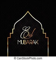 élégant, mubarak, 0606, eid, fond