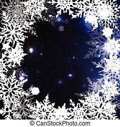élégant, noël, fond, flocons neige