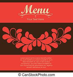 élégant, restaurant, carte, menu
