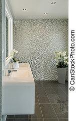 élégant, salle bains, moderne