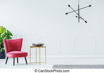 élégant, salle, fauteuil