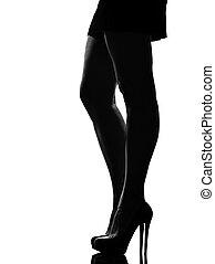 élégant, silhouette