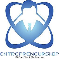 élégant, symbole, entrepreneurship