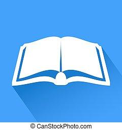 élégant, symbole, livre