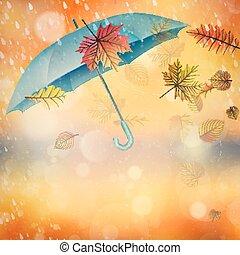 élégant, umbrella., eps, ouvert, 10