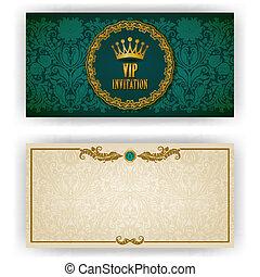 élégant, vip, luxe, gabarit, invitation