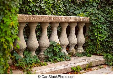 élément, architectural, balustrade