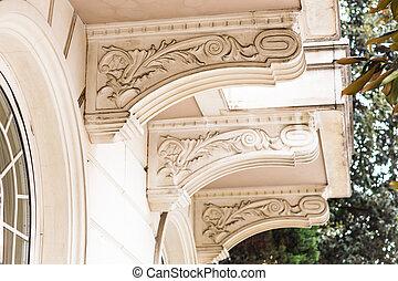 élément, architectural, baroque