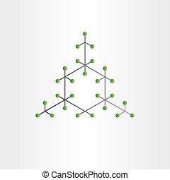 élément, chimique, vecteur, conception, fond, structure