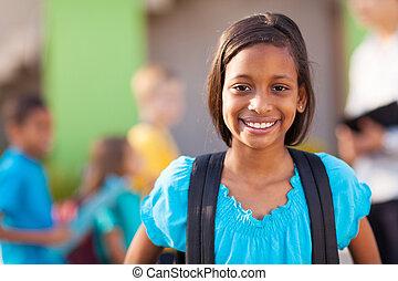élémentaire, écolière, indien
