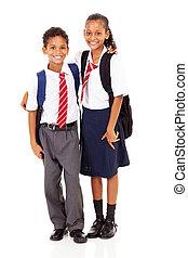 élémentaire, étudiants, école, deux