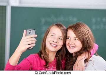 élémentaire, étudiants, deux