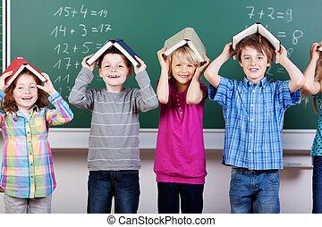 élémentaire, étudiants, groupe