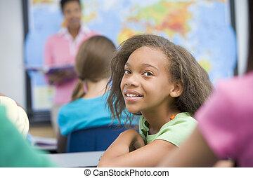 élémentaire, classe, pupille