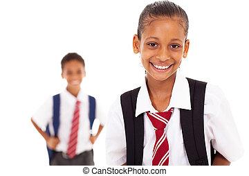 élémentaire, mignon, écolière