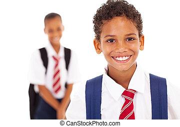 élémentaire, mignon, écolier