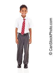 élémentaire, mignon, écolier, uniforme