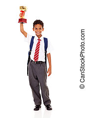 élémentaire, trophée, tenue, écolier