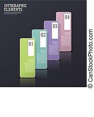 éléments, étiquette, résumé, papier, moderne, infographic