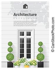 éléments, 20, fenêtre, architecture, fond