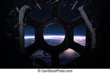 éléments, beauté, meublé, ceci, image, -, système, planète, ...