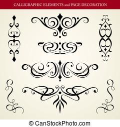 éléments, calligraphic