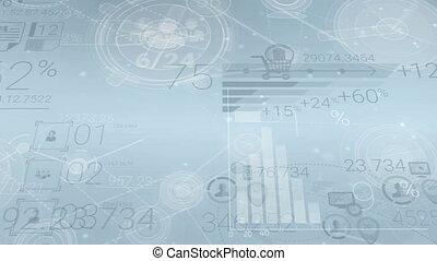 éléments, clair, fond, infographics, constitué, résumé