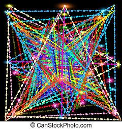 éléments, clair, résumé, fond, triangulaire