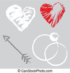 éléments, conception, romantique