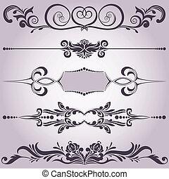 éléments décoratifs, collection, 6