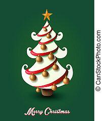 éléments, eps10, arbre, décoration noël, joyeux, file.