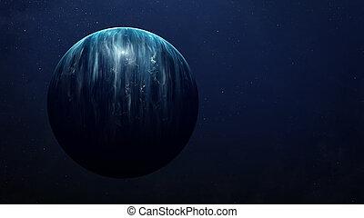 éléments, extérieur, beauté, meublé, univers, projection, espace, galaxies, scène, nasa, étoiles, planètes, exploration.